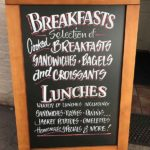 breakfast menu signage